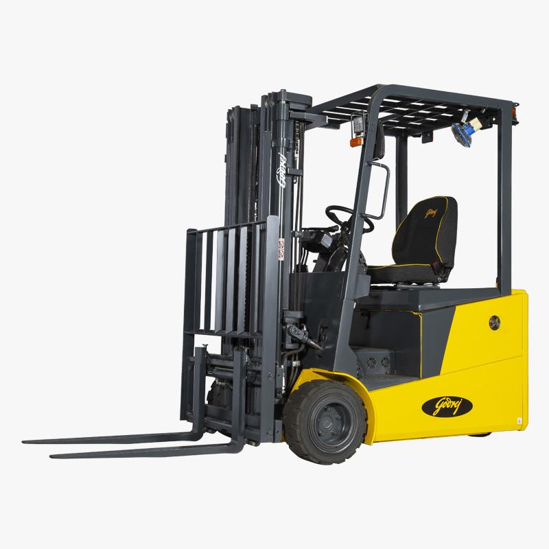 Godrej Electric Forklift 3 wheel 1.6 to 2 tonne BRAVO Series